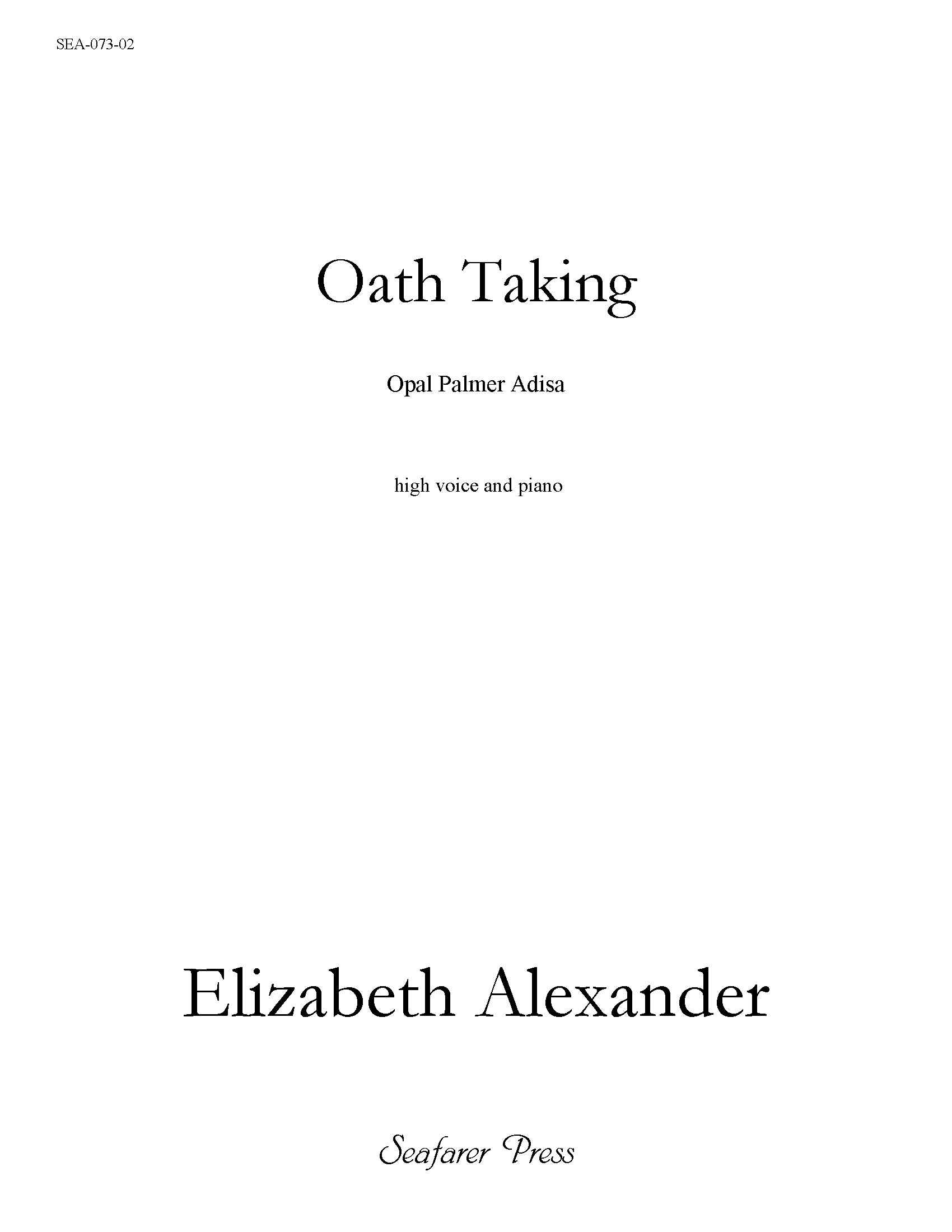 SEA-073-02 - Oath Taking