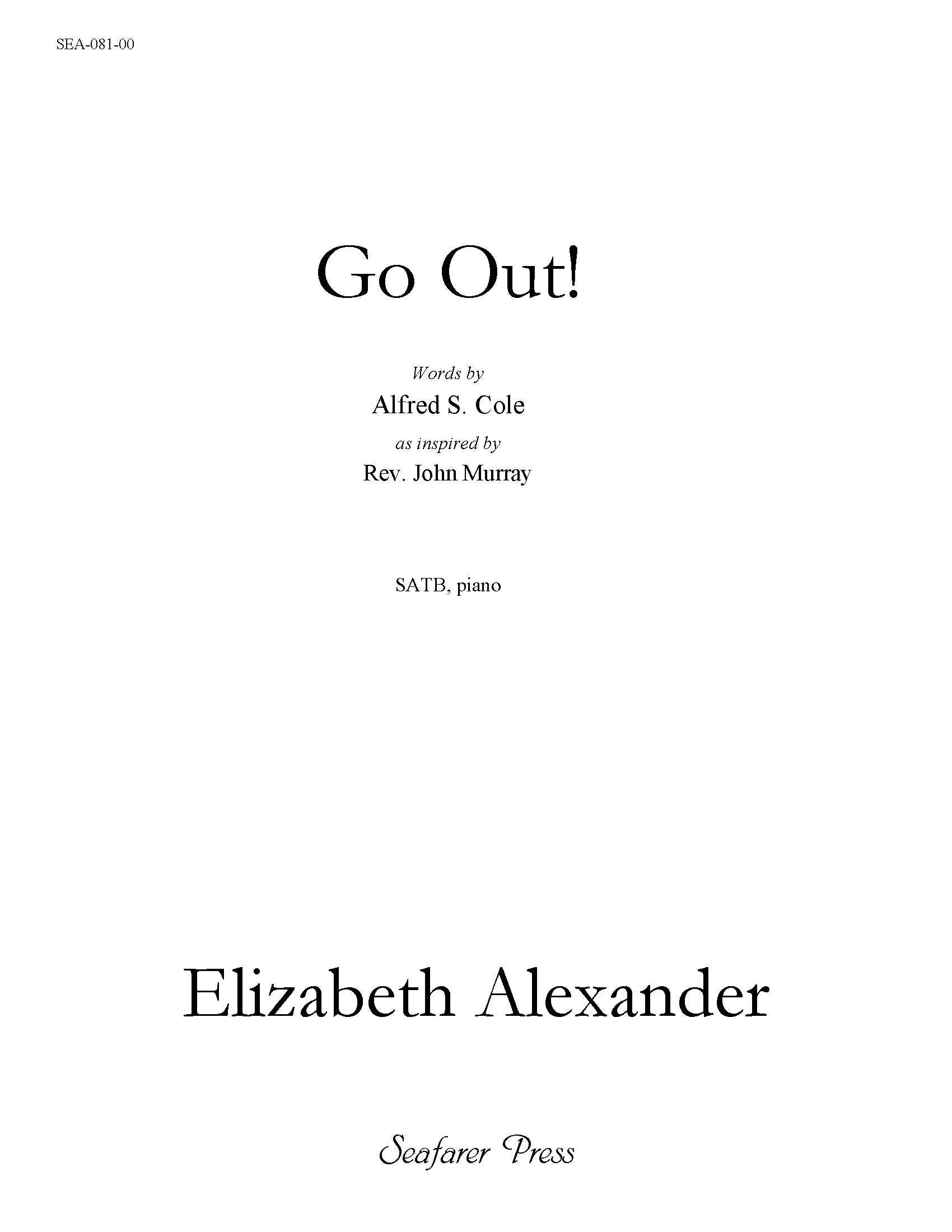 SEA-081-00 - Go Out! (Individual Song)