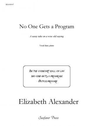 No One Gets A Program