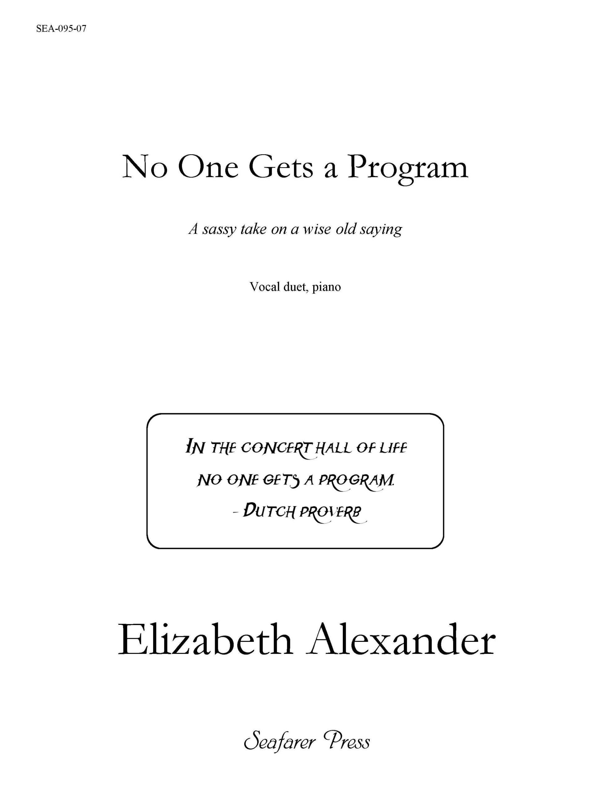 SEA-095-07 - No One Gets A Program