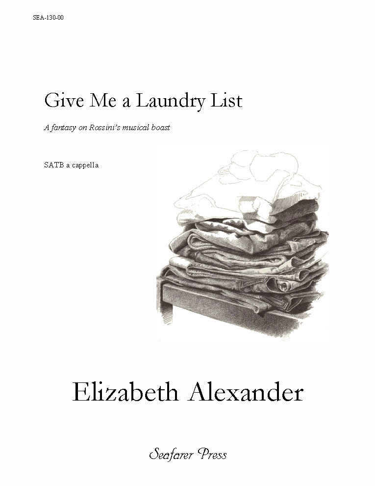 SEA-130-00 - Give Me a Laundry List (and I'll set it to music)